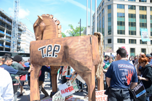 """""""Stop Fast Track"""" rally in Washington D.C., April 2015."""