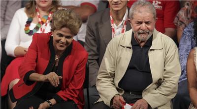 Presidents Dilma Rousseff and Lula da Silva, Brazil