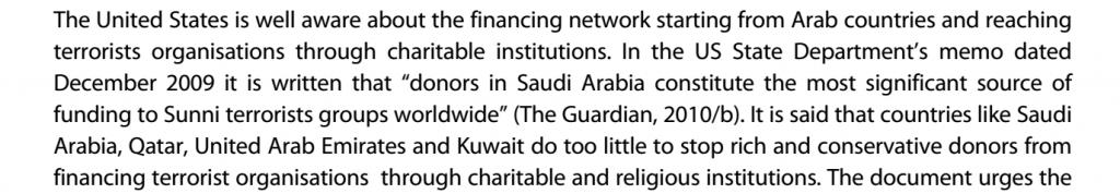 eu report saudi arabia usa isis alqaeda