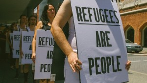 A protest in support of refugee rights in Perth, Australia | Photo: Louise Coghill (Flickr)