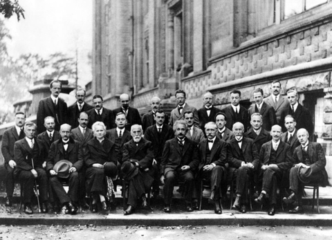 The 1927 Solvay conference in Brussels, a gathering of the top physicists of the times