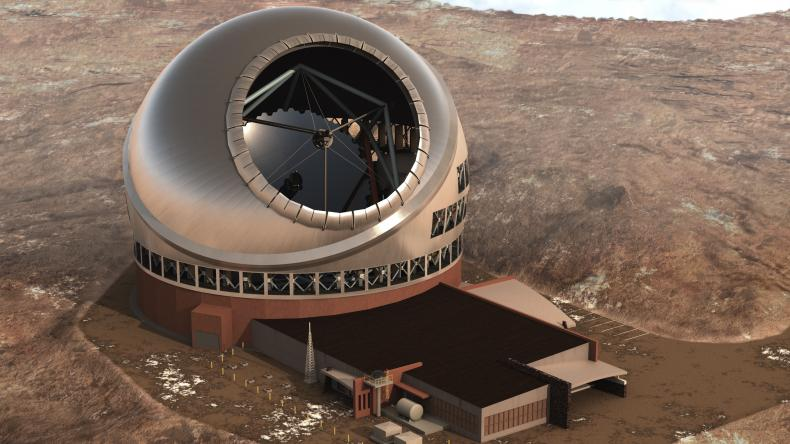 Artist's concept of a Thirty Meter Telescope. Image Credit: TMT International Observatory