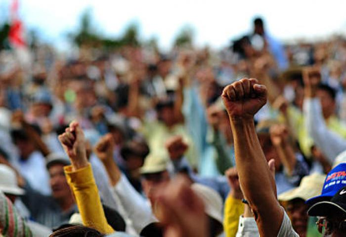 Protesters in Japan. Image Credit Nathan Keirn, Wikipedia Commons