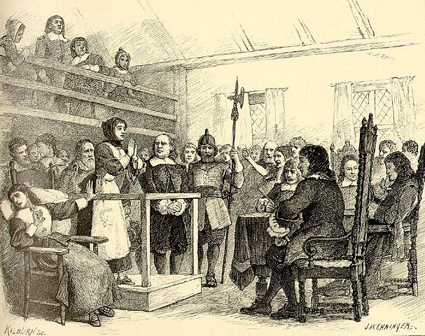 Martha Corey, a 72 year old women falsely accused of witchcraft during the Salem witch trials.