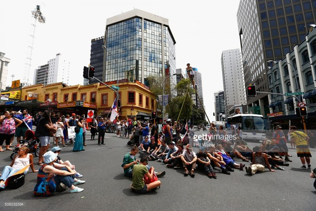 auckland new zealand tpp signing protest