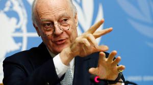 U.N. mediator for Syria Staffan de Mistura © Denis Balibouse / Reuters