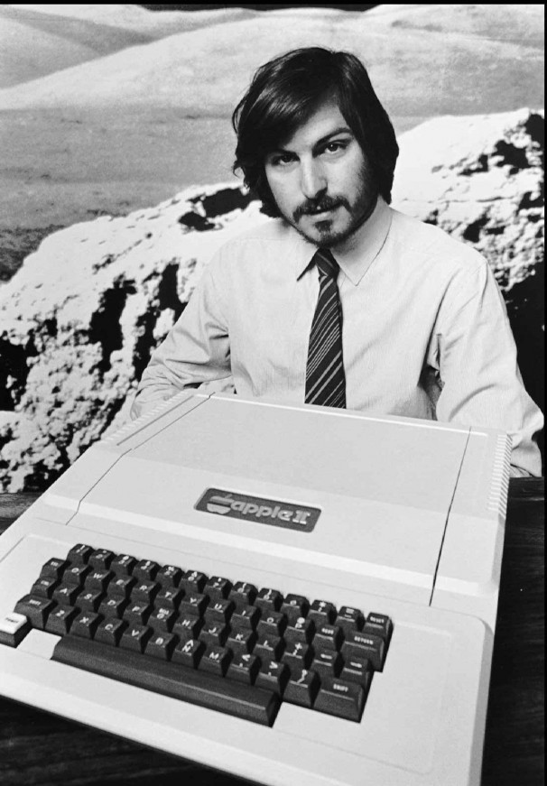 Apple was founded in a garage by Steve Jobs, pictured here, and Steve Wozniak. The young entrepreneurs brought different strengths to their fledgling company: Jobs had a flair for conceptualizing products, while Wozniak had the technical know-how to make them happen. In this 1977 photo, Steve Jobs introduces the Apple II, one of the company's early successes. AP