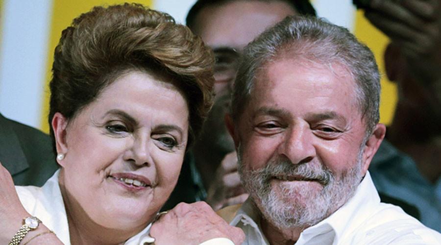 Former president Luiz Inacio Lula da Silva and Brazilian President Dilma Rousseff. © Reuters