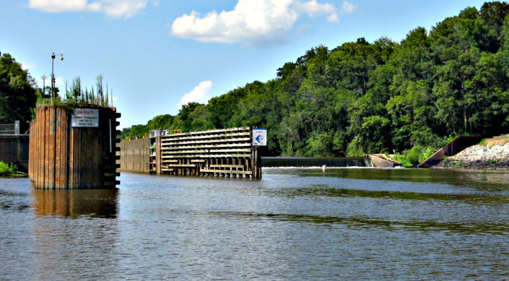 William O. Huske Lock and Dam on the Cape Fear River close to Fayetteville, N.C. Photo: Don Adams