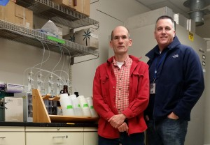 Andrew Lindstrom and Mark Strynar, scientists who work for the EPA. Photo: Courtesy of Mark Strynar