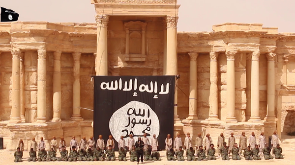 The Arch of the Temple of Baal, for nearly 2,000 years the center of religious life in Palmyra before ISIS (Daesh) destroyed in on 8/31/2015.