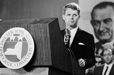 U.S. Attorney General Robert Kennedy gives a speech in September, 1964