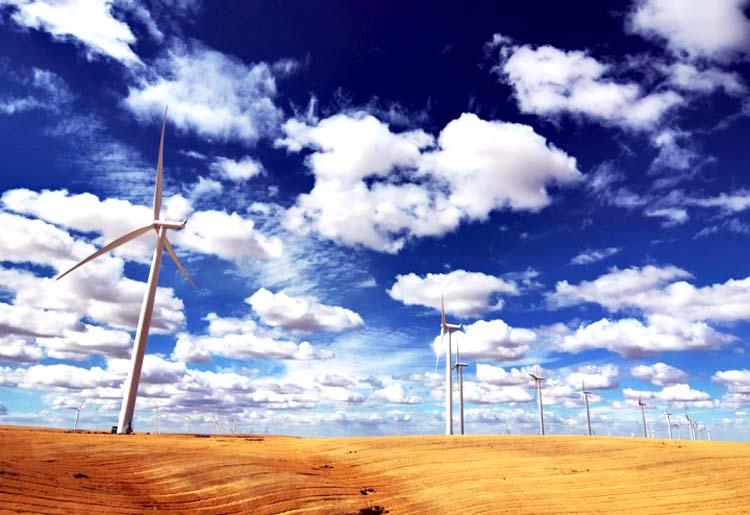A wind farm in Washington state. Photo credit: Daniel Parks / flickr