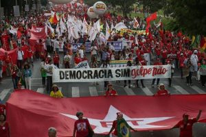 An anti-coup rally in Brasilia, March 2016
