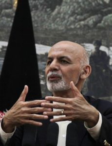 Afghan President Ashraf Ghani during a press conference at the presidential palace in Kabul, Afghanistan, on Oct. 1, 2015. Photo: Haroon Sabawoon/Anadolu Agency/Getty Images