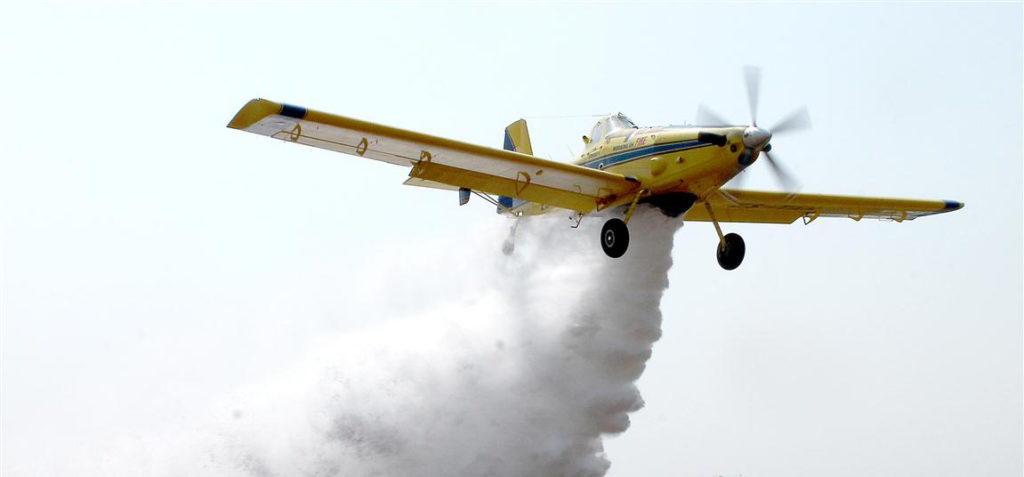The Air Tractor crop duster was weaponized by the CIA for use in Colombia in the early 2000s. Photo: Lowvelder