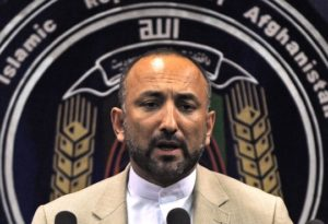 Hanif Atmar, then Afghanistan's interior minister, speaks during a press conference at the Ministry of Interior in Kabul on June 6, 2010. Photo: Massoud Hossaini/AFP/Getty Images
