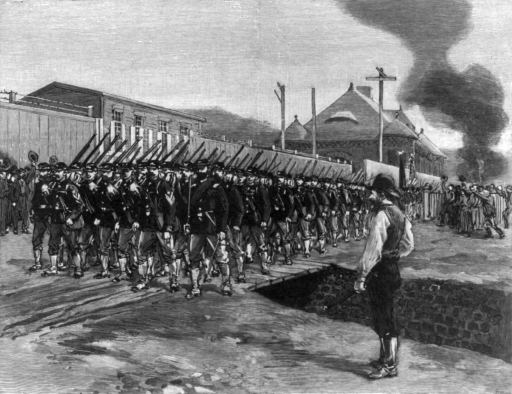 Capitalism responded to the system-changing ambitions of the 19th century labor movement with state and paramilitary violence.