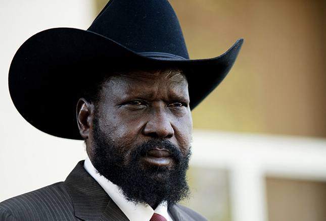 Salva Kiir, a devout Christian and the president of South Sudan, has a relationship with Erik Prince that's spanned more than a decade. Photo: AFP