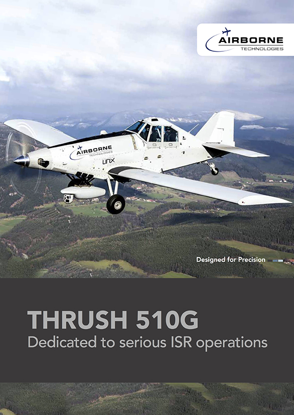 Airborne Technologies brochure featuring the modified Thrush 510G. Photo: Airborne Technologies
