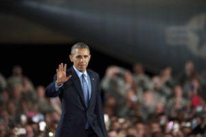 President Barack Obama at Joint Base McGuire-Dix-Lakehurst in New Jersey, Dec. 15, 2014. Photo: Mark Makela/Getty Images