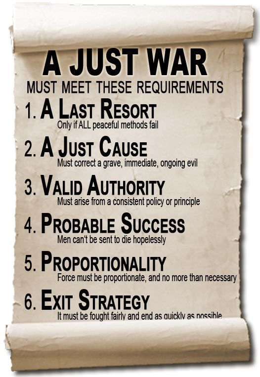 Justifying war