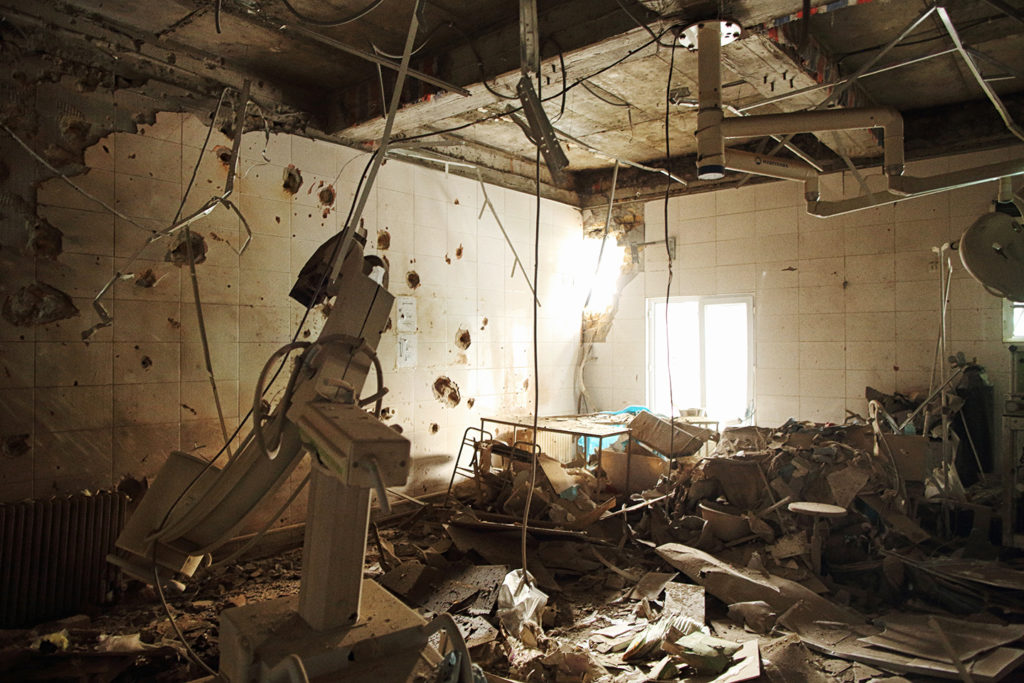 The destroyed operating room of the MSF hospital in Kunduz, Afghanistan, Oct. 10, 2015. Photo: Andrew Quilty/Oculi