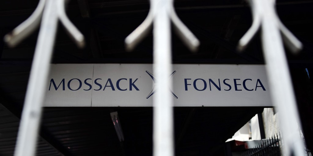 A sign outside the building of Panama-based law firm Mossack Fonseca in Panama City, April 4, 2016.