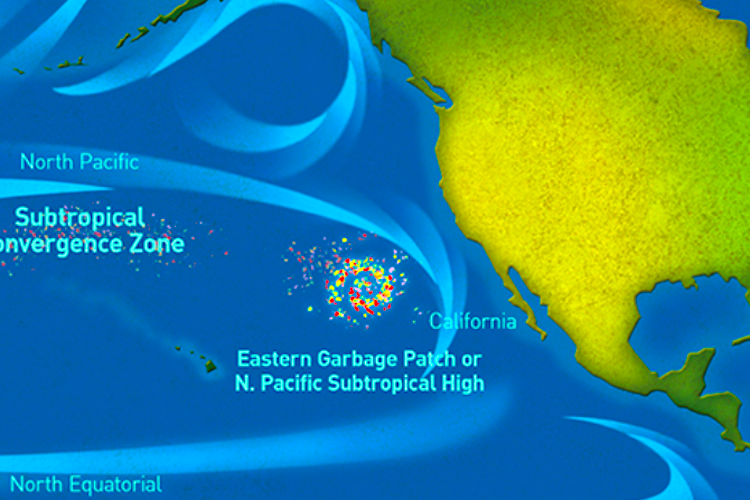 Marine debris that has accumulated in the Pacific Ocean. Photo credit: NOAA