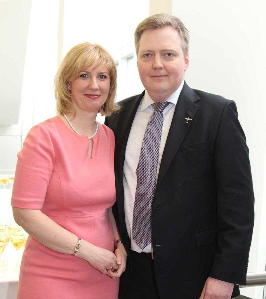 Iceland Prime Minister Sigmundur David Gunnlaugsson and his wife Anna Sigurlaug Pálsdóttir.