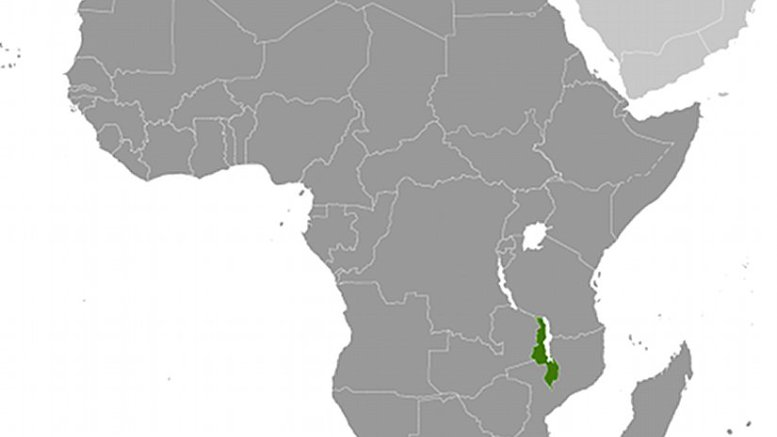 Location of Malawi. Source: CIA World Factbook.