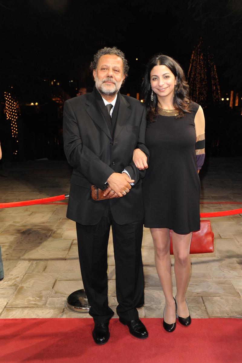 Palestinian director Nasri Hajjaj, left, seen with Lebanese director Zeina Daccache at the 6th Dubai International Film Festival in 2009. Ammar Abd Rabbo abacapress.com