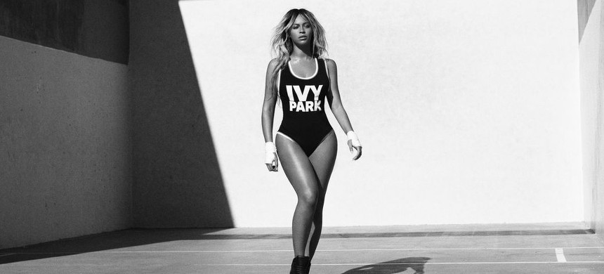 Beyonce modeling her clothing line. (photo: Ivy Park)