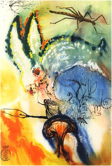 Art by Salvador Dalí for a special edition of Alice in Wonderland