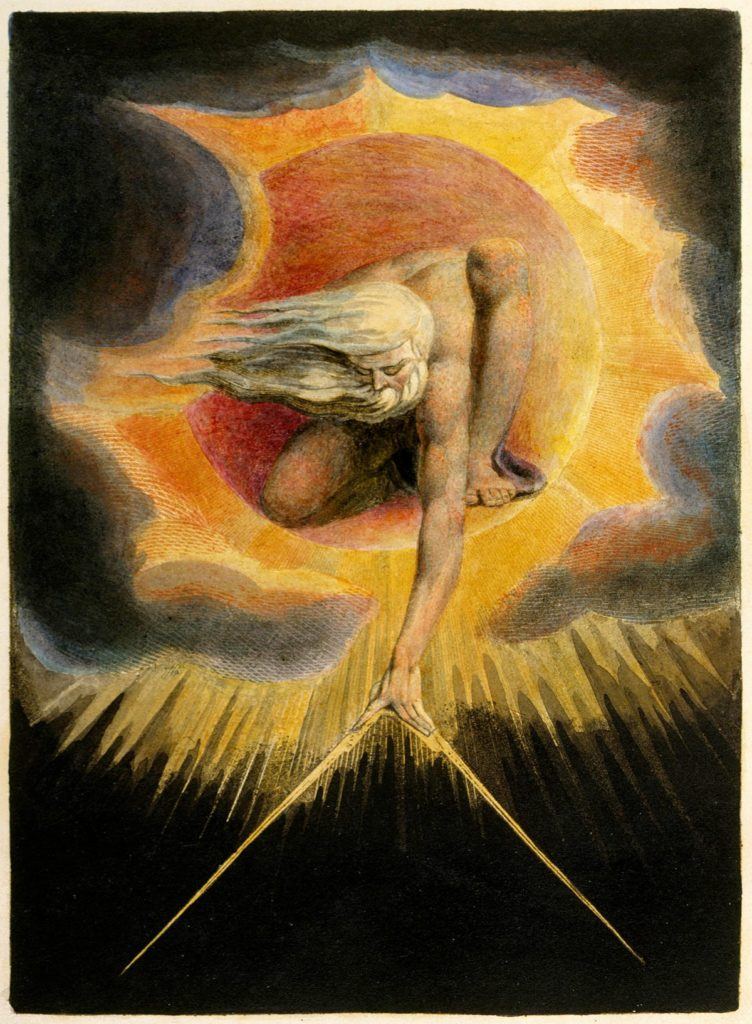 The Ancient of Days, William Blake's depiction of Urizen (1794)
