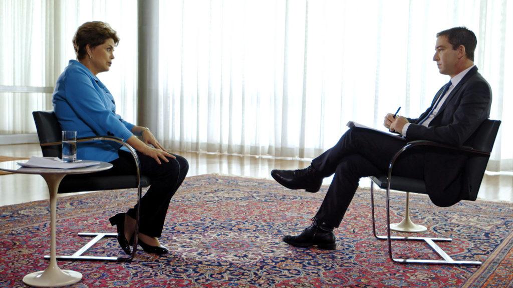 Brazilian President Dilma Rousseff and Glenn Greenwald on May 17, 2016. Image: The Intercept