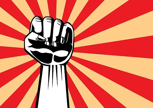 hand communism mão comunista luta struggle