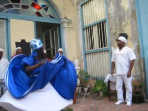 The Afro-Cuban folkloric troupe Nsila Cheche performs in Regla. – Photo courtesy of Marilyn Langlois