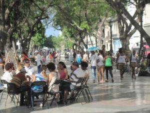 Street scene on the Prado (Paseo de Marti) in Havana – Photo courtesy of Marilyn Langlois