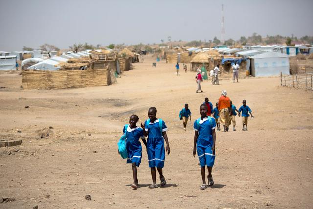 Nigerian refugee children at the Minawao refugee camp in Northern Cameroon. Photo: UNICEF/Karel Prinsloo