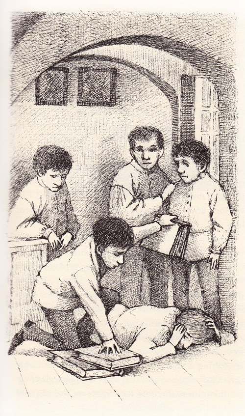 One of Maurice Sendak's forgotten illustrations for Tolstoy's 1852 book Nikolenka's Childhood