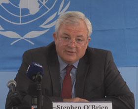 Stephen O'Brien, UN Under-Secretary-General for Humanitarian Affair. Credit: UN Multimedia