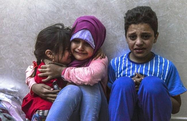 syrian children refugees lamb
