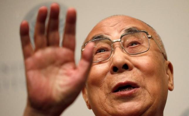 The Dalai Lama speaks at the U.S. Institute of Peace in Washington, D.C., U.S. June 13, 2016. Reuters/Kevin Lamarque