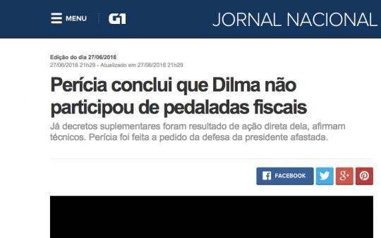 jornal nacional impeachment dilma brasil