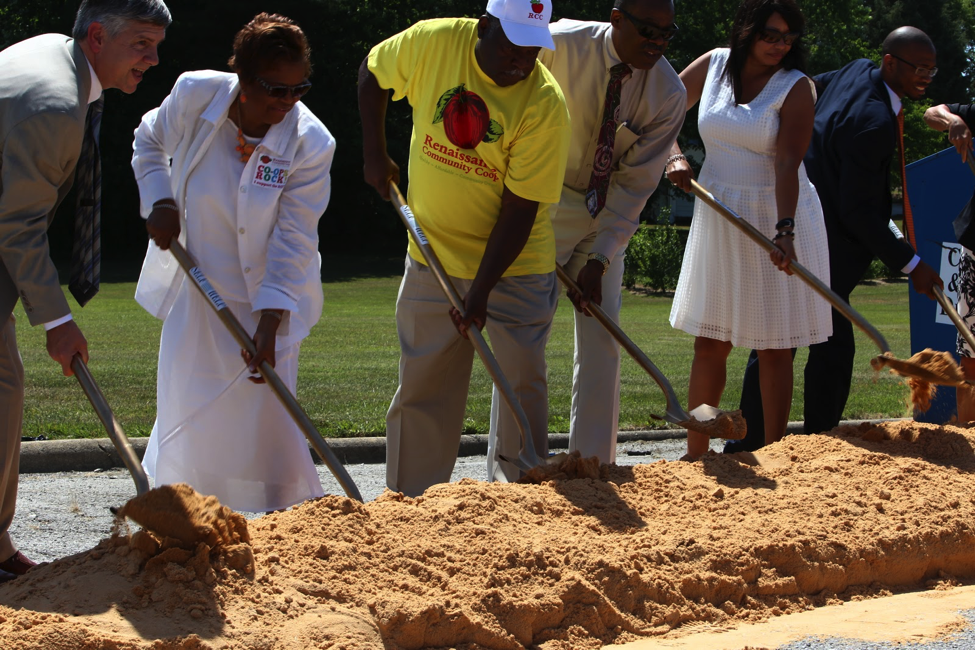 Renaissance Community Co-op, a full service cooperatively-owned grocery store similar to People's Community Market, breaks ground in Greensboro, NC.
