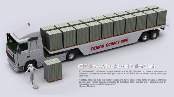 2 billion euro truckload money