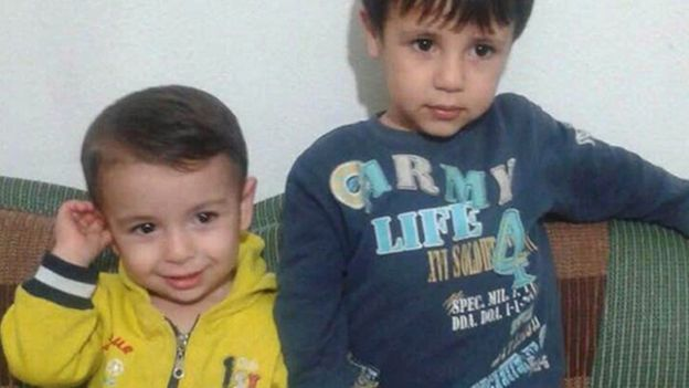 Alan Kurdi (L) and his brother Galib both drowned trying to reach Greece. An image of Alan's body on the beach sparked an international outpouring of compassion. copyright AP Image
