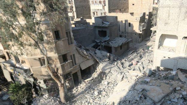 Russia has denied that its warplanes bombed Omran Daqneesh's home in rebel-held Aleppo. copyright Reuters