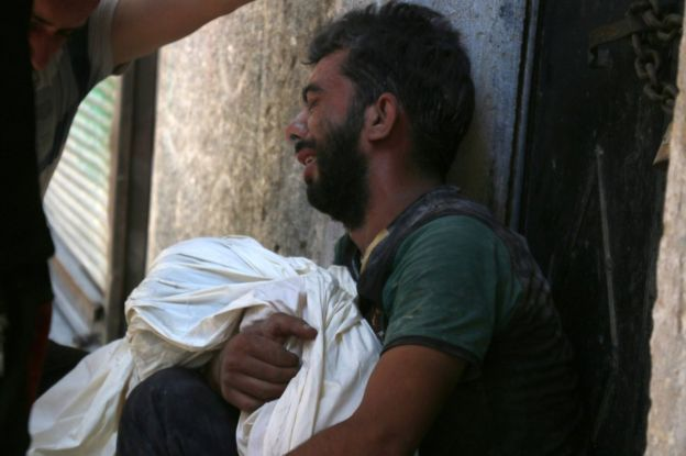 Hundreds of civilians, many of them children, have been killed in Aleppo in recent weeks. copyright AFP